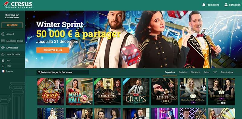 cresus casino en ligne live casino