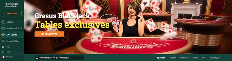 cresus casino tables exclusives