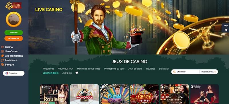 monte cryptos casino en ligne jeux de casino
