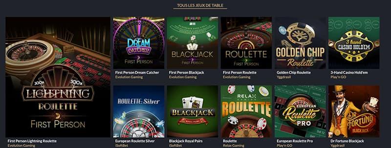 tortuga casino en ligne jeux de table