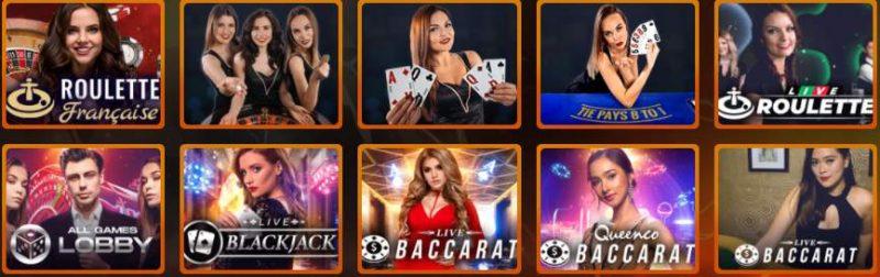 screenshot casino intense en ligne jeux en direct